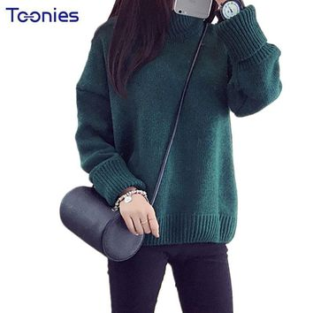 Autumn Knitwear Turtleneck Oversized Pullover Sweater Women Loose Thick Poncho Knitted Sweaters Female Casual Outwear Pull Femme