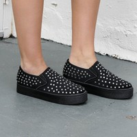 At The Show Black Studded Sneaker