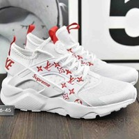 Nike Air Huarache LV Joint Supreme Fashion Sneakers F-A36H-MY White