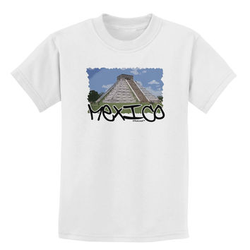 Mexico - Mayan Temple Cut-out Childrens T-Shirt