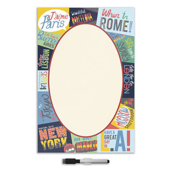 Wall Pops WPE1218 Passport Giant Message Board Decal