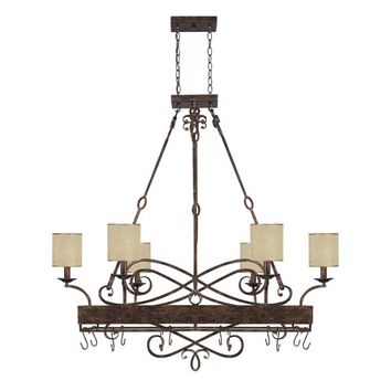 Capital Lighting Fixture Company 4168RT-497 Reserve Rustic Eight-Light Pot Rack
