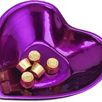 Purple Heart Shaped Bowl
