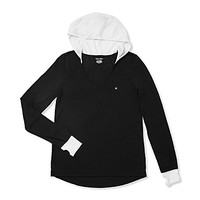 COLORBLOCK HIGH LOW PULLOVER HOODIE