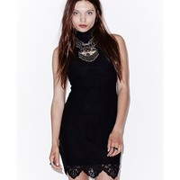 For Love & Lemons The Holiday Mini Dress in Black | ShopAmbience