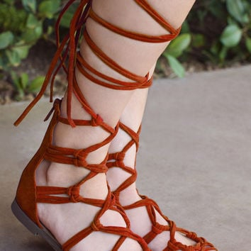 Ale Gladiator Sandals - Rust