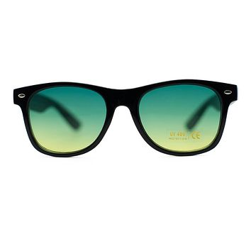 Unisex Black Wayfarer Frames with Assorted Colored Lens