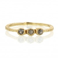 Danielle Welmond | Triple Greyish Brown Diamond Yellow Gold Ring at Voiage Jewelry