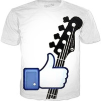 Guitarist Facebook Like Tee