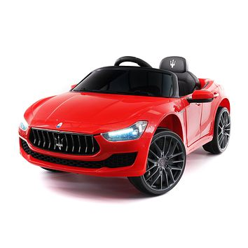 Maserati Ghibli 12V Electric Kids Ride-On Car with R/C Parental Remote | Red