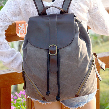 College Comfort On Sale Stylish Hot Deal Back To School Summer Casual Canvas Korean Backpack [8403309767]