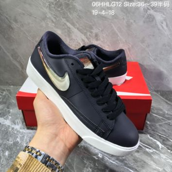 hcxx N1263 Nike Blazer Low Jelly gradient hook crystal retro casual board shoes Black