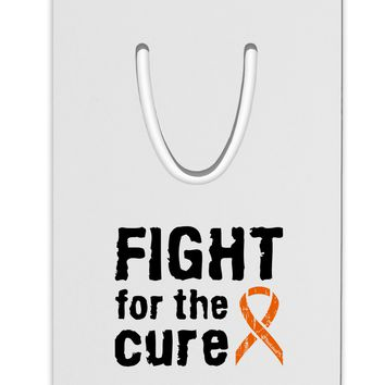 Fight for the Cure - Orange Ribbon Leukemia Aluminum Paper Clip Bookmark