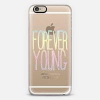 """Forever Young"" Transparent iPhone 6 case by Organic Saturation 