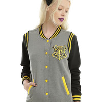 Harry Potter Hufflepuff Girls Varsity Jacket