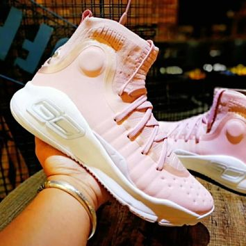 Under Armour Curry 4 Flushed Pink Basketball Shoe