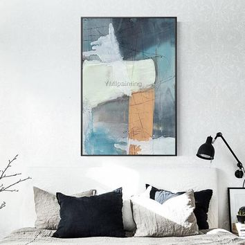 Modern Abstract acrylic painting on canvas original textured painting extra Large Wall Pictures Home decor hand painted cuadros abstractos