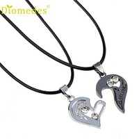 Diomedes Fashion Necklace Jewelry  Two in one Jigsaw I Love You Heart Pendant Necklace Lovers Couples Gift Necklace #1212