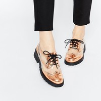 ASOS MY OH MY! Lace Up Flat Shoes