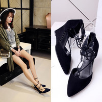 Summer Korean Pointed Toe Wedge High Heel Stylish Shoes [6050209089]