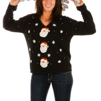 Triple Threat Santa Ugly Christmas Sweater