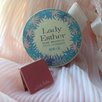 Vintage Makeup Lady Esther Powder and Rouge Lot of 2 Cosmetic Vintage Compact