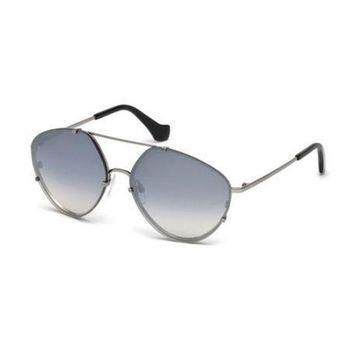 ONETOW balenciaga metal geometric aviator sunglasses black 2