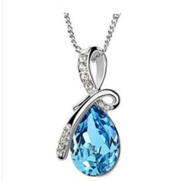 Angel Tears Crystal Necklace