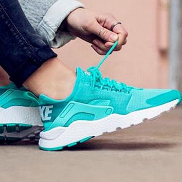 Nike Wmns Air Huarache Run Ultra Sports shoes Mint green