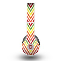 The Yellow & Red Vintage Chevron Pattern Skin for the Beats by Dre Original Solo-Solo HD Headphones