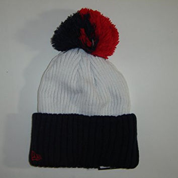 New Era NFL New England Patriots 2 Tone White Cuffed Hat Knit Pom Beanie NewEra