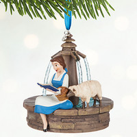 Disney Store 2016 Belle Singing Sketchbook Christmas Ornament New with Tags
