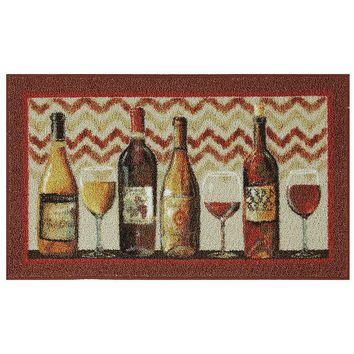 Food Network Chevron Wine Rug - 30'' x 46'' (Red)