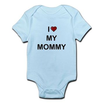 I Love My Mommy Baby Light Bodysuit