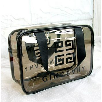 Givenchy Fashion Portable transparent toiletries package tour gym bag