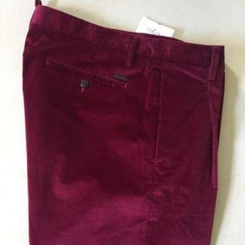 New $635 Dsquared 2 Dress Pants Burgundy 36 US ( 52 Eur ) Italy