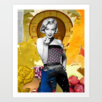 Golden Marilyn Monroe Art Print by Zabu Stewart