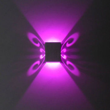 Butterfly 3W LED Wall Sconce Light Fixture