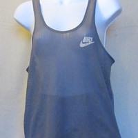Vintage Amazing 80s NIKE BLUE TAG Mesh Running Athletic Work Out Men Women Small Medium Summer Tank Top