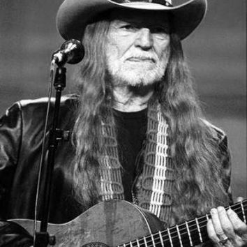 "Willie Nelson Poster Black and White Poster 16""x24"""