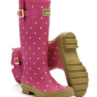 Pinkspot Welly print Womens Printed Rain Boot Wellies | Joules US