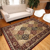 1019 Red Oriental Area Rugs