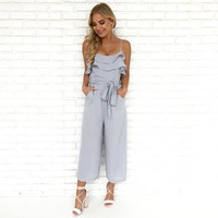 Amalfi Coast Jumpsuit in Light Blue