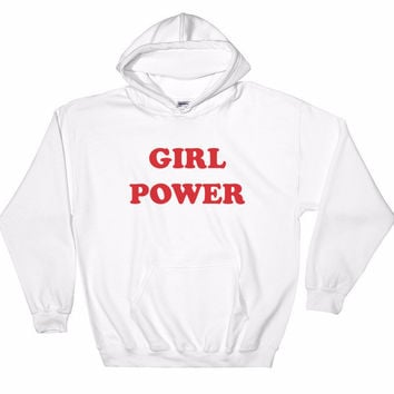 Girl Power Hooded Sweatshirt