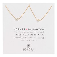 Dogeared Mother Daughter Set of 2 Pearl Pendant Necklaces | Nordstrom