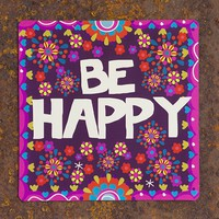 Car  Magnets:  Be  Happy  Car  Magnet  From  Natural  Life