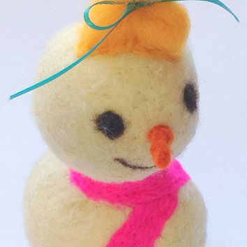 Baby Infant Snowgirl, Snowman Holiday Christmas Home Decor