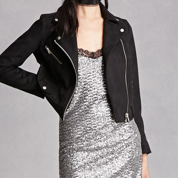 Motel Sequined Slip Dress