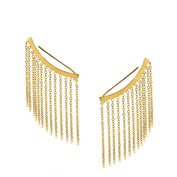 Gold Fringe Ear Crawler