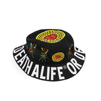 WISE SAYINGS ALIFE or DEATH BLACK BUCKET HAT